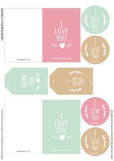 [스티커도안] 발렌타인데이 선물 포장 할때 유용한 무료스티커 도안 : 네이버 블로그