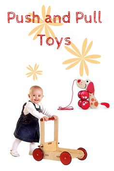 We have sourced our favorite wooden push and pull toys!