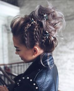 Braided Bun Hairstyles: Get Free Inspiration From This Hair! - Braided Bun Hairstyles: Get Free Inspiration From This Hair! Bride Hairstyles For Long Hair, Box Braids Hairstyles, Formal Hairstyles, Hairstyle Ideas, Braided Hairstyles Medium Hair, Gorgeous Hairstyles, Classic Hairstyles, Fall Hairstyles, Natural Hairstyles