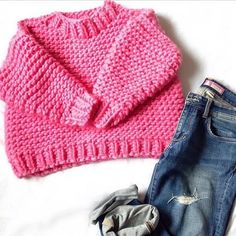 Nolita Sweater 100% Wool in Bubblegum | We Are Knitters