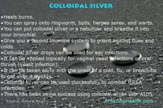 Try it & see: (Heard it was good stuff. Need to learn more about.) Colloidal Silver