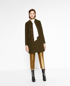 MILITARY STYLE COAT-NEW IN-WOMAN | ZARA United States