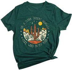 New GEMLON Womens Arizona Cactus Shirt Vintage T-Shirt Western Desert Graphic Tee Letter Print Short Sleeve Casual Tops online shopping – Topbuytopoffer - Modern Casual Tops For Women, Tees For Women, Arizona Cactus, Tops Online Shopping, Cactus Shirt, Mothers Day Shirts, Vintage Shirts, Vintage Clothing, Printed Shorts