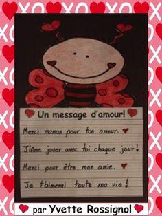 Gratuit! Écriture pour la Saint-Valentin ( 1er cycle, Fren