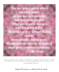 Esther Hicks ~ Abraham