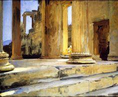 The Athenaeum - Sketch of Erechtheum (John Singer Sargent - )