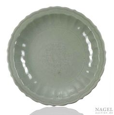 A Longquan celadon-glazed plate, China, early Ming dynasty