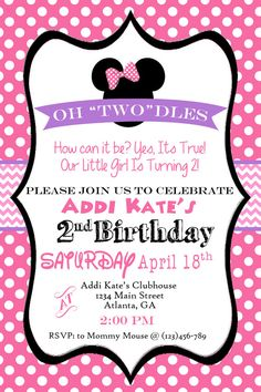 Oh Toodles Minnie Mouse 2nd Birthday Party By SweetSimplySouthern For Girl Mickey