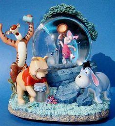 pooh snow globe