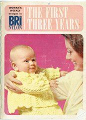 Womans Weekly the first three years baby vintage knitting pattern