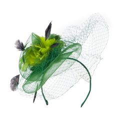 Multi Colored Feather Fascinator with Circle Shaped Net - Green OSFM SS/Hat,http://www.amazon.com/dp/B00FYZ6Y5Q/ref=cm_sw_r_pi_dp_VNcytb00WYF3FD0K