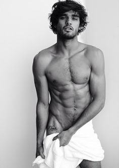 Marlon Teixeira in Towel Series for Mario Testino.