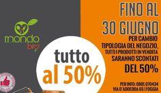 Mondo Bio | Fino Al 30 Giugno TUTTO AL 50% http://affariok.blogspot.it/