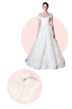 6 clever ways to accessorize your wedding dress: Wear a stole to look glamorous and keep extra warm.