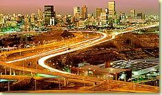 Johannesburg skyline: I so badly want to go to South Africa. :)