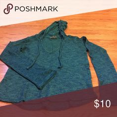 Sweater Teal hooded sweater Mudd Sweaters