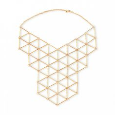 Affordable New Year's Eve accessories: Gold toned bib necklace. (Though we'd wear it long after New Year's Eve.)