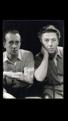 """Man Ray - """" André Breton et Paul Eluard """", c. 1950 - Tirage argentique - 24 x 30 cm (*)"""