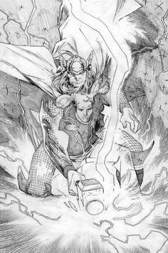 Olivier Coipel's Thor pencils