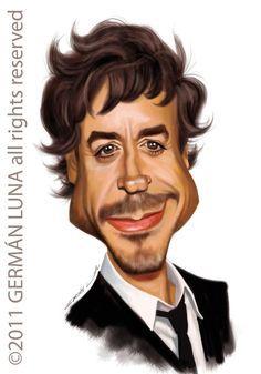 robert downey jr caricature - Google Search