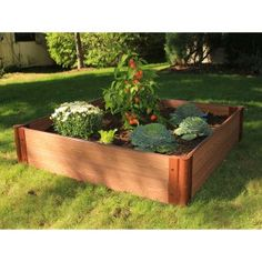 Frame It All 1-inch Series Composite Raised Garden Bed Kit - 4ft. x 4ft. x 11in.