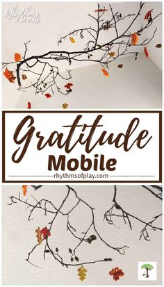 Gratitude crafts like this thankful mobile are fun to make, at home with the family, at the office, or in the classroom. Create an attitude of gratitude with this Thanksgiving craft idea for kids and adults.