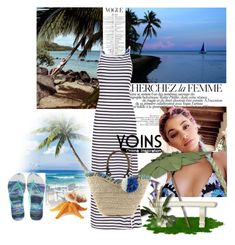 """Yoins!"" by amrafashion ❤ liked on Polyvore featuring La Femme, Philmore and Havaianas"