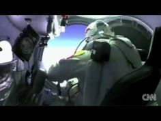 Felix Baumgartner, who's aiming to break the world freefall record by jumping from the edge of space completes a test flight. Felix Baumgartner, Darth Vader, Space, Youtube, Red Bull, Fictional Characters, Live, Halloween, People