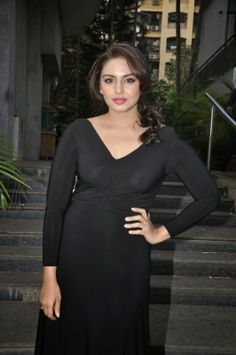 Huma Qureshi Stills In Hot Revealing See Through Black Dress