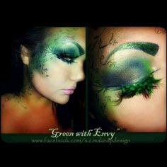 Green with envy makeup