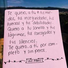 Te quiero a ti por ...