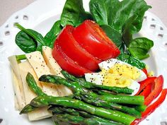 Salad with Hearts of Palm and Asparagus