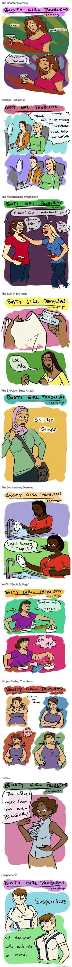 Busty girl problems... all real things.