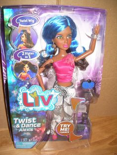 Spin Master LIV Twist & Dance ALEXIS Doll 80s Themed Clothes & Blue Wig HTF! | eBay