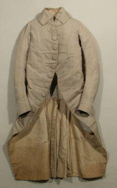 1770 - 1780  MaterialsCanvas, Linen, Silk damask, Silk twill, Steel