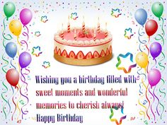 Happy Birthday Wishes Free | Greetings and Birthday Wishes For ...