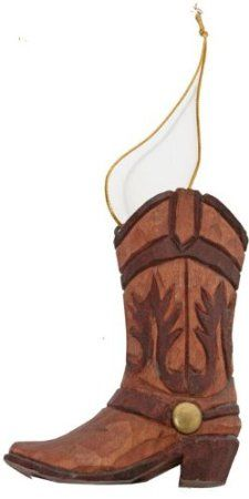 Amazon.com: Western Boot Ornament (Hand-carved of Wood): Home & Kitchen