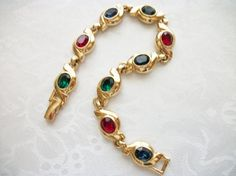 SOLD - Vintage MultiColor Faceted Glass Stones by PhylmasFabulousFinds, $18.00 - SOLD