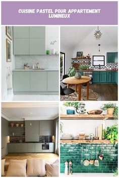 Cuisine pastel pour appartement lumineux (2) Cuisine Verte Cuisine pastel pour appartement lumineux