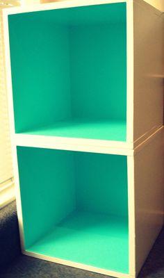 DIY colour block book case