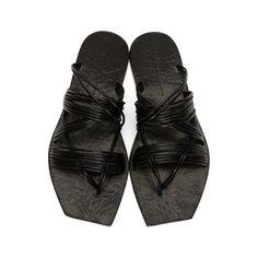 Rick Owens - Black Tangle Sandals 965b948b1f