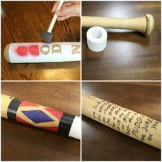 DIY Harley Quinn Bat from Suicide Squad<<< The movie hasn't even come out yet and we're already cosplaying it...