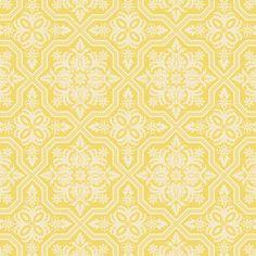 Joel Dewberry Fabric, Heirloom, Tile Flourish, Dandelion
