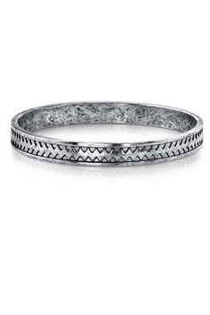Low Luv by Erin Wasson Zig Zag Bangle in Silver