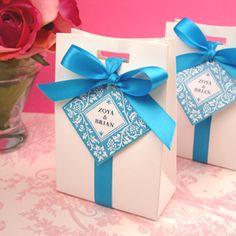 White Tote Favor Bag, Wedding Favors, Bridal Shower Favors, Baby Favors