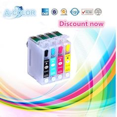 4PCS EMPTY for epson t1281 t1282 t1283 t1284 Refill Ink Cartridge FOR EPSON S22 SX125 SX130 SX235W SX420W SX440W SX430W printer