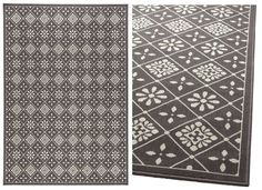 #IKEA Snekkersten Rug in grey. It seems that can be worn on both sides > the other side is mainly white.
