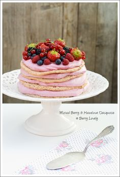 Berry Lovely: Mixed Berry and Hazelnut Dacquoise for my 4th Blog Anniversary!