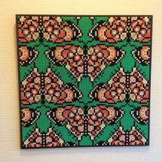 Butterfly hama perler bead Art (44 x 44 cm) by Lisa Haulrik