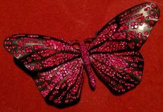 377 - butterfly brooch by JAR Paris, 2005 - Rubies, sapphires, silver, gold #JAR…